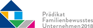 prädikat familienbewusstes Unternehmen 2018 Logo
